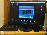 Monitor s RPi a na něm běžícím programem Graphic Packet
